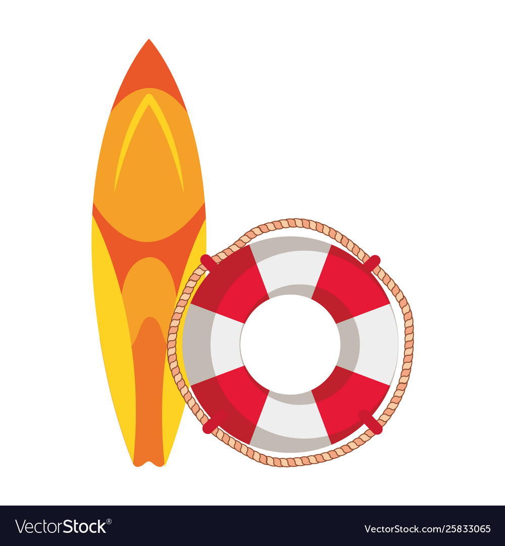 Surf board sport with float lifeguard