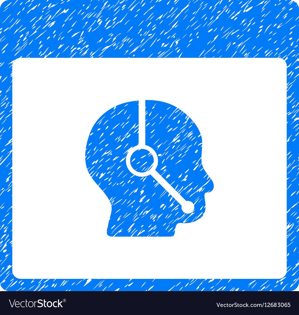 Telemarketing Operator Calendar Page Grainy vector image
