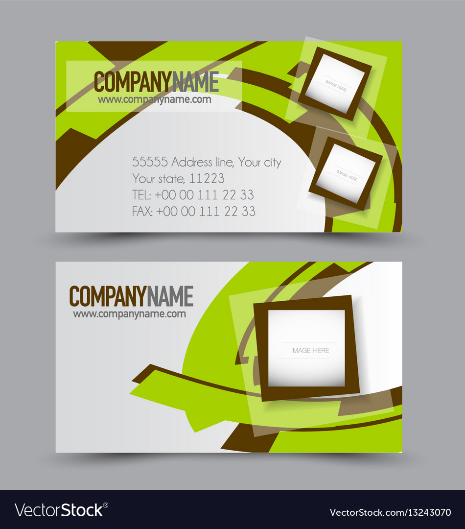 Set Template Royalty Free Vector Image