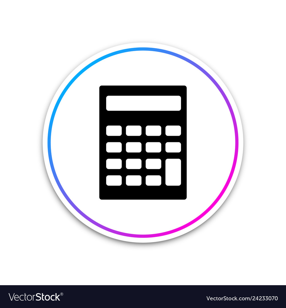 Calculator icon isolated on white background
