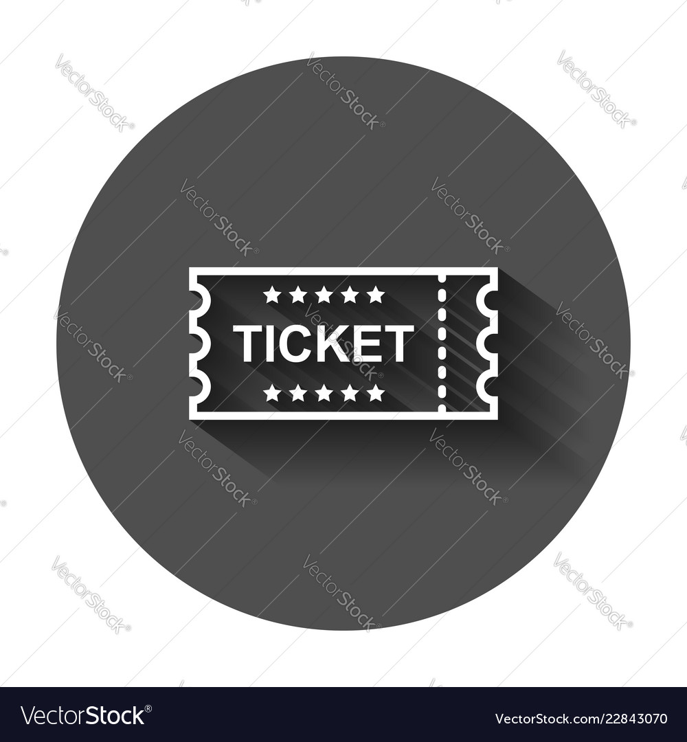 cinema ticket icon in flat style admit one coupon vector image