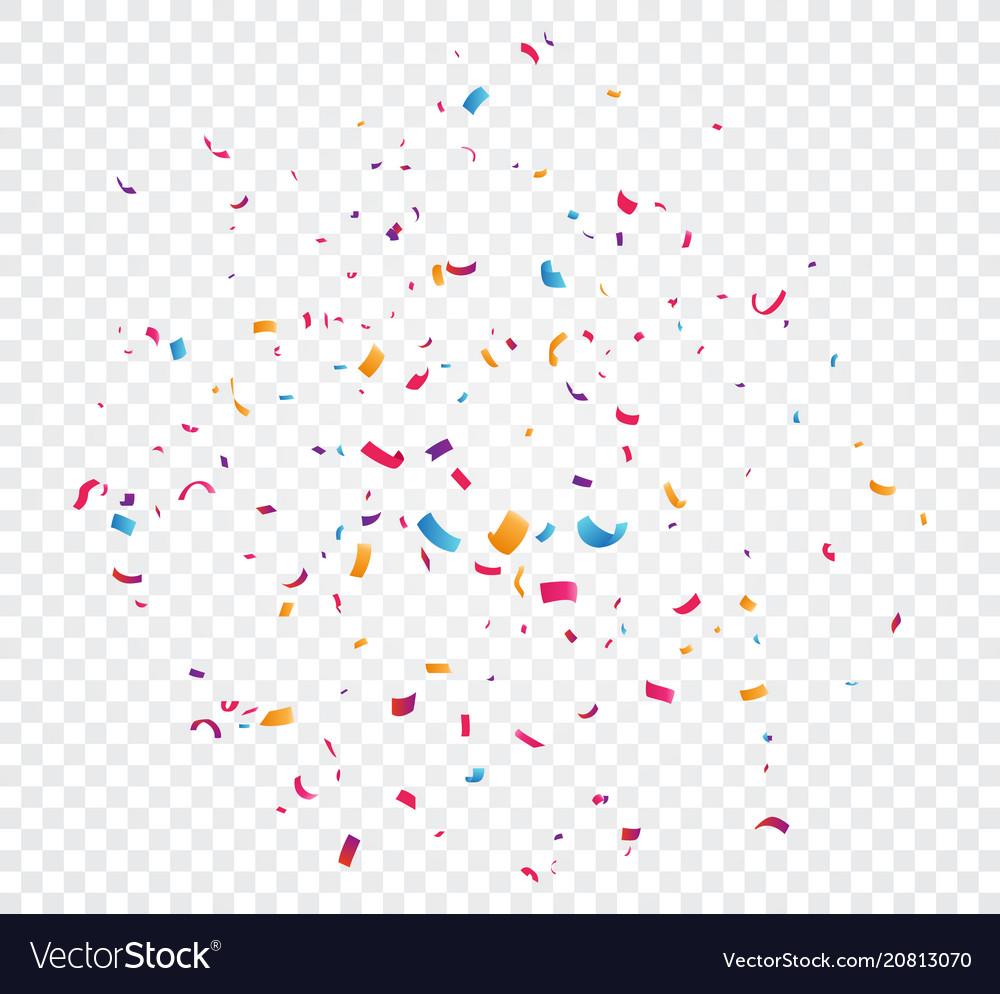 Colorful confetti explosion
