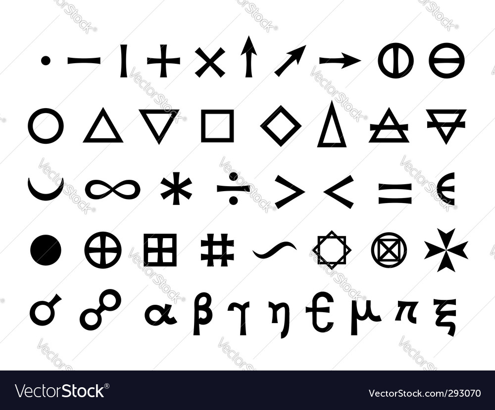 Elements And Symbols Royalty Free Vector Image