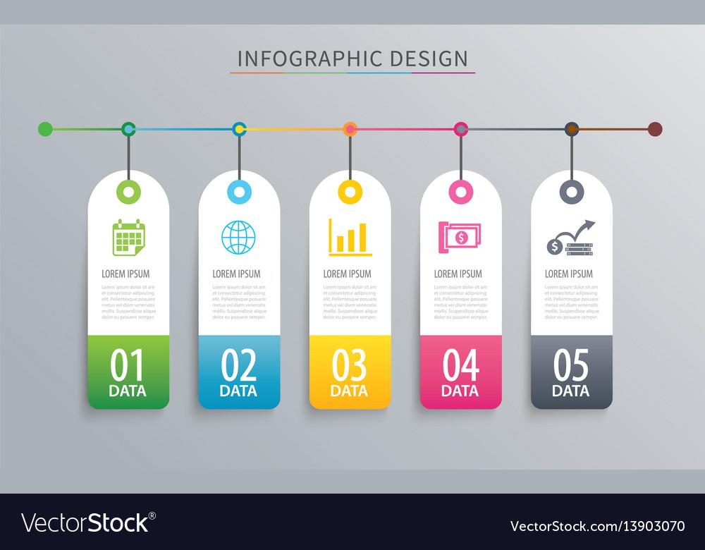 Infographics tag banner 5 option template