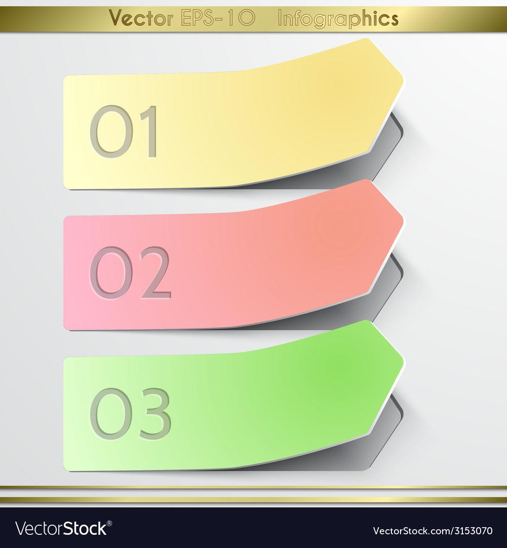 Modern arrow sticker infographics elements