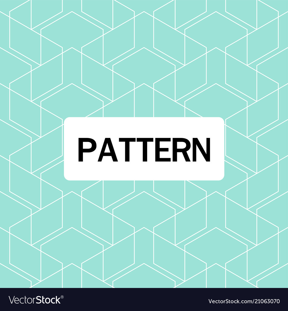 Modern overlap hexagon pattern blue background vec