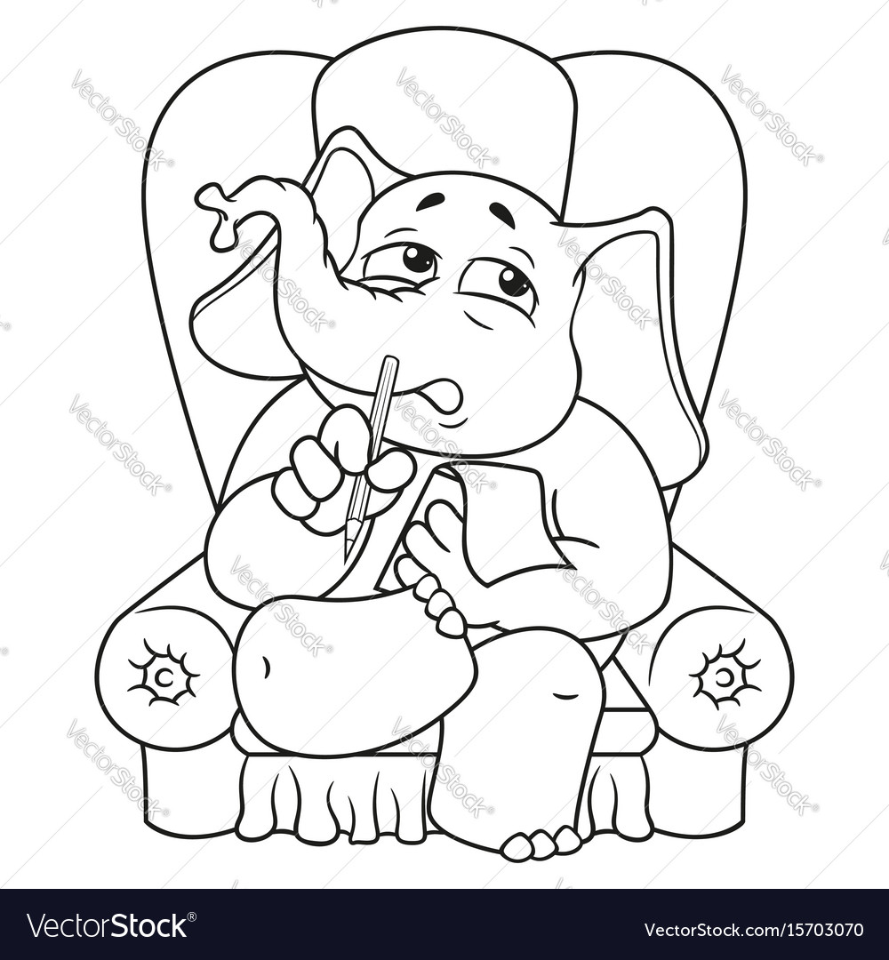 Psychologist sitting in a chair listening to vector image