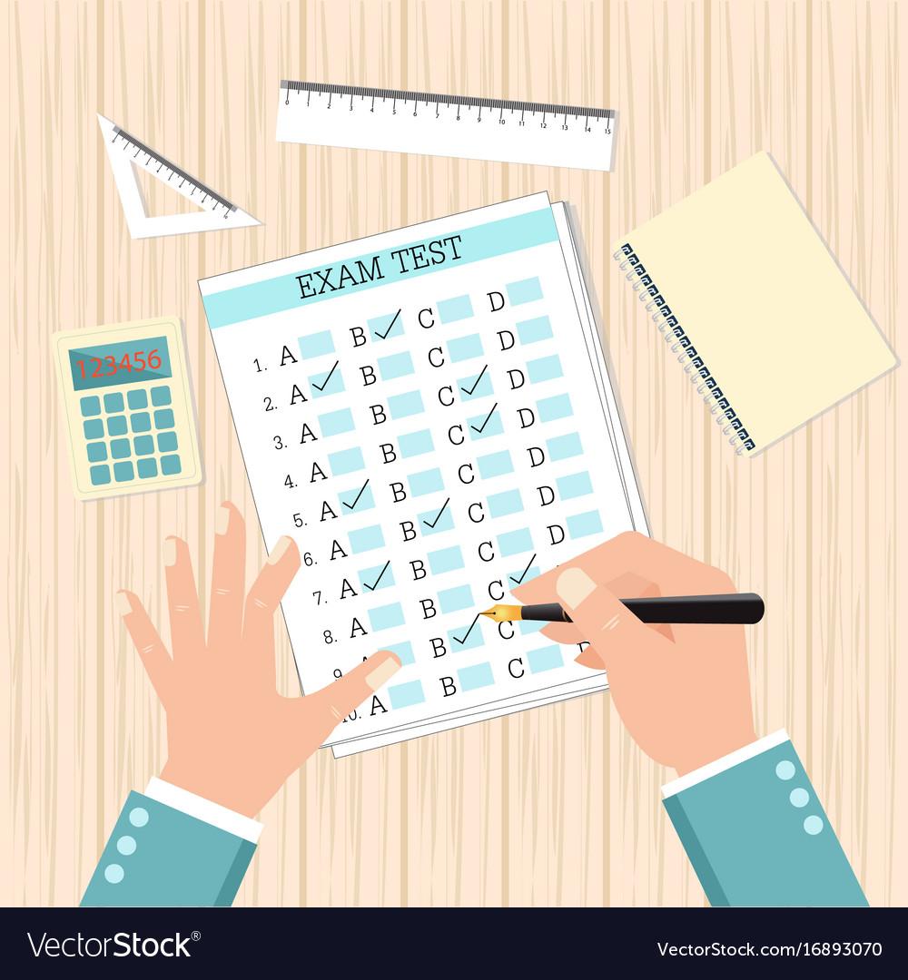 School exam test results