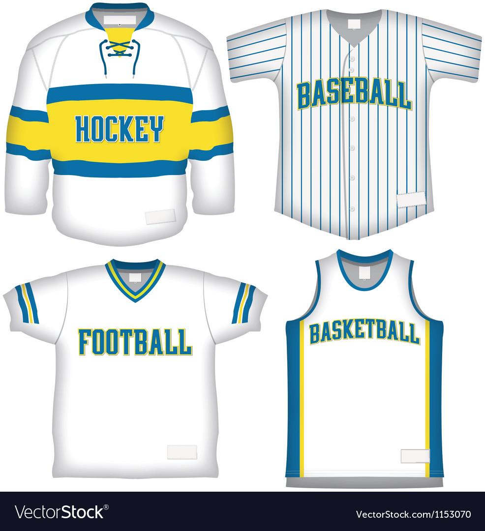 Set of Sports Uniforms vector image