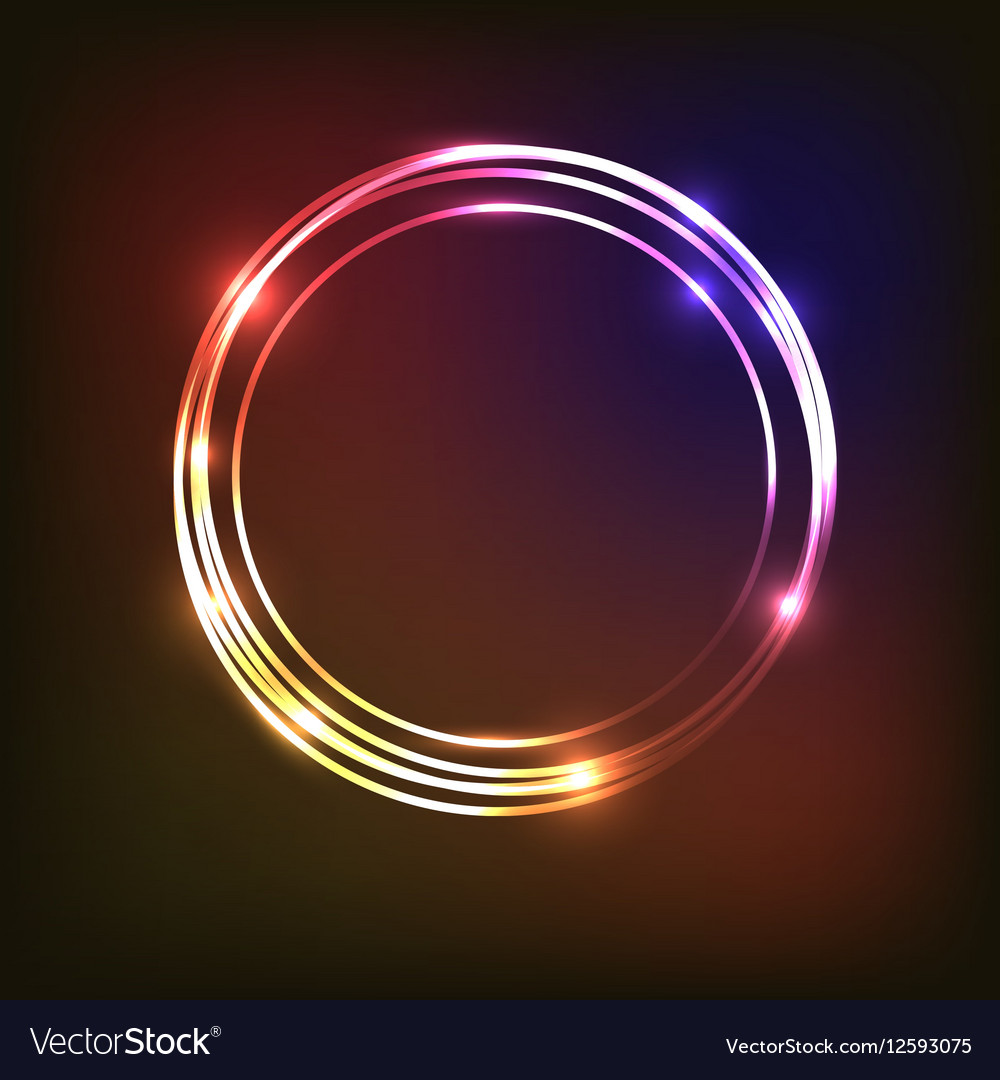Abstract neon background with circles