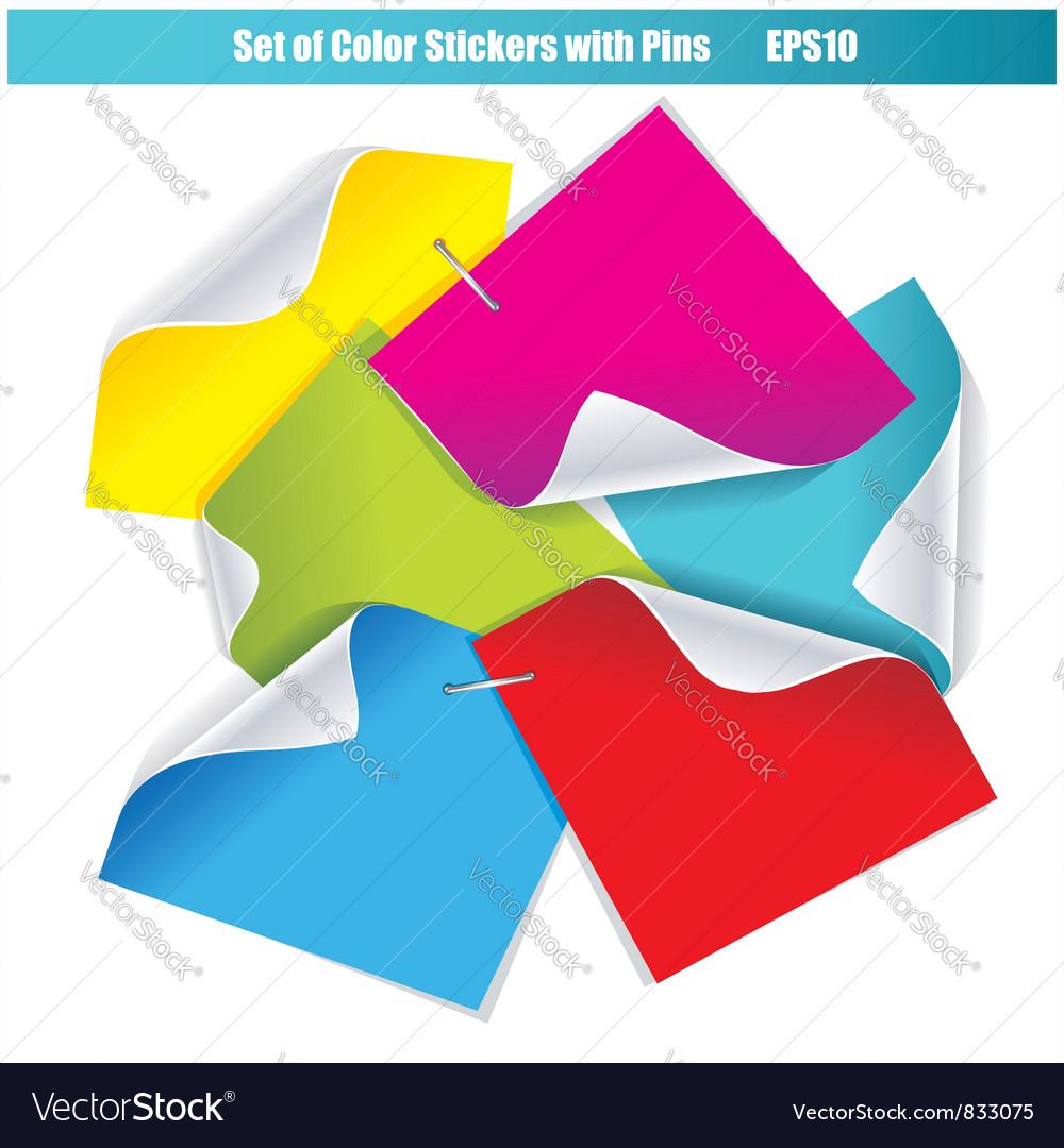 Color stickers set