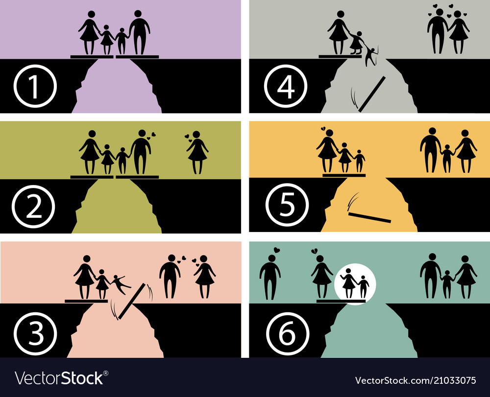 Family issues infographic symbol