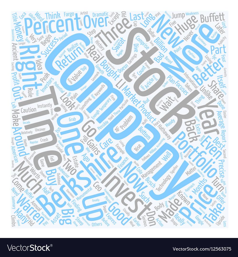 How You Can Do Much Better Than Warren Buffet text vector image