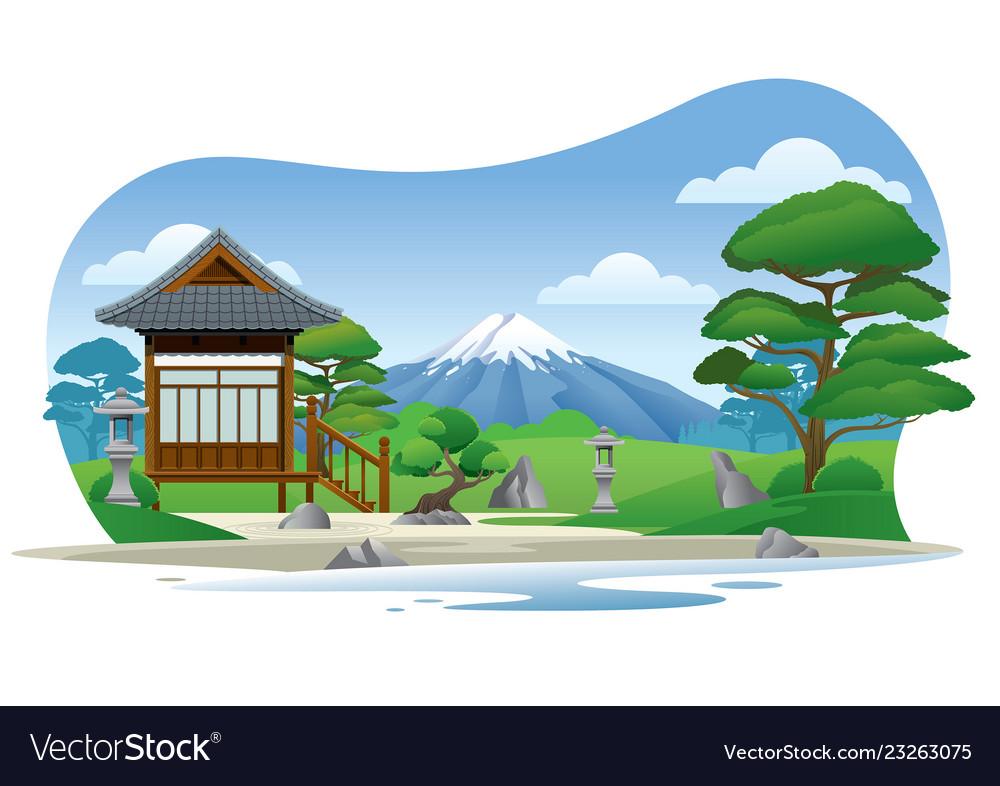 Japan traditional garden