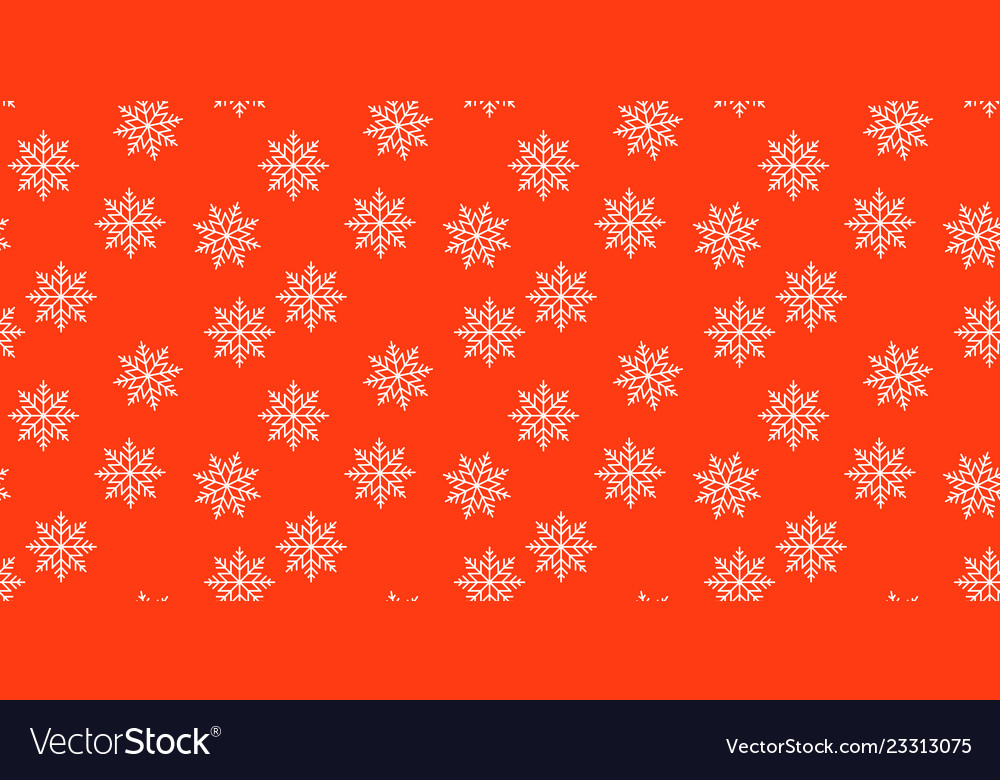 New year red and white snowflakes seamless