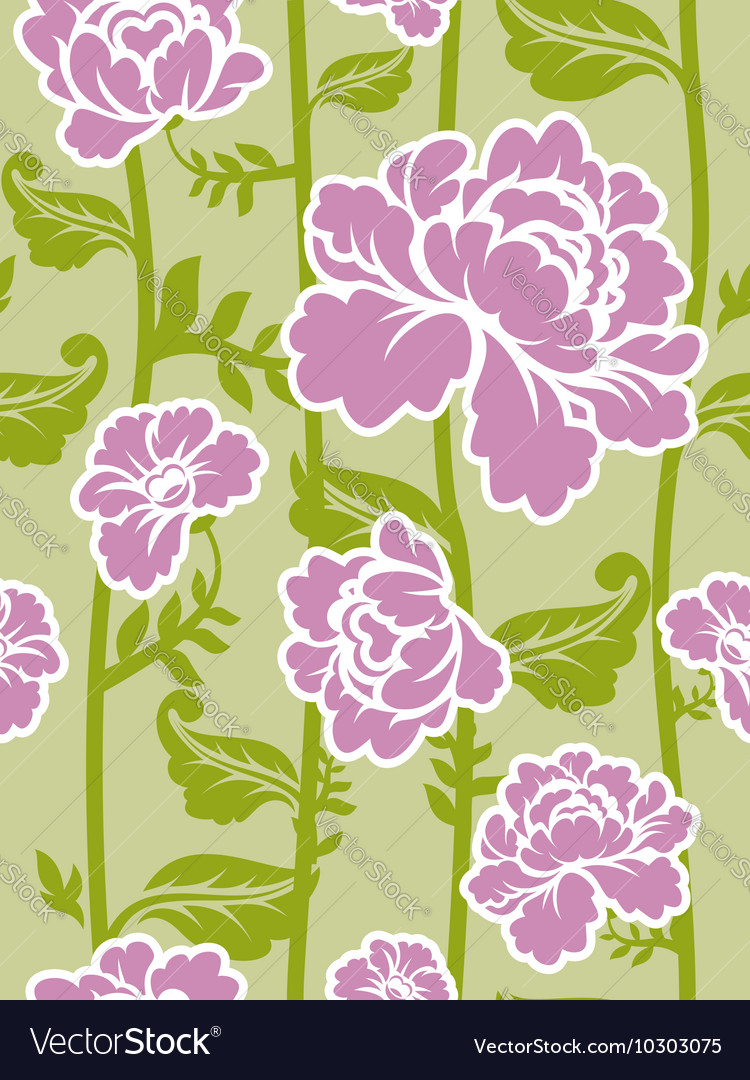 Pink roses background Seamless pattern of flowers