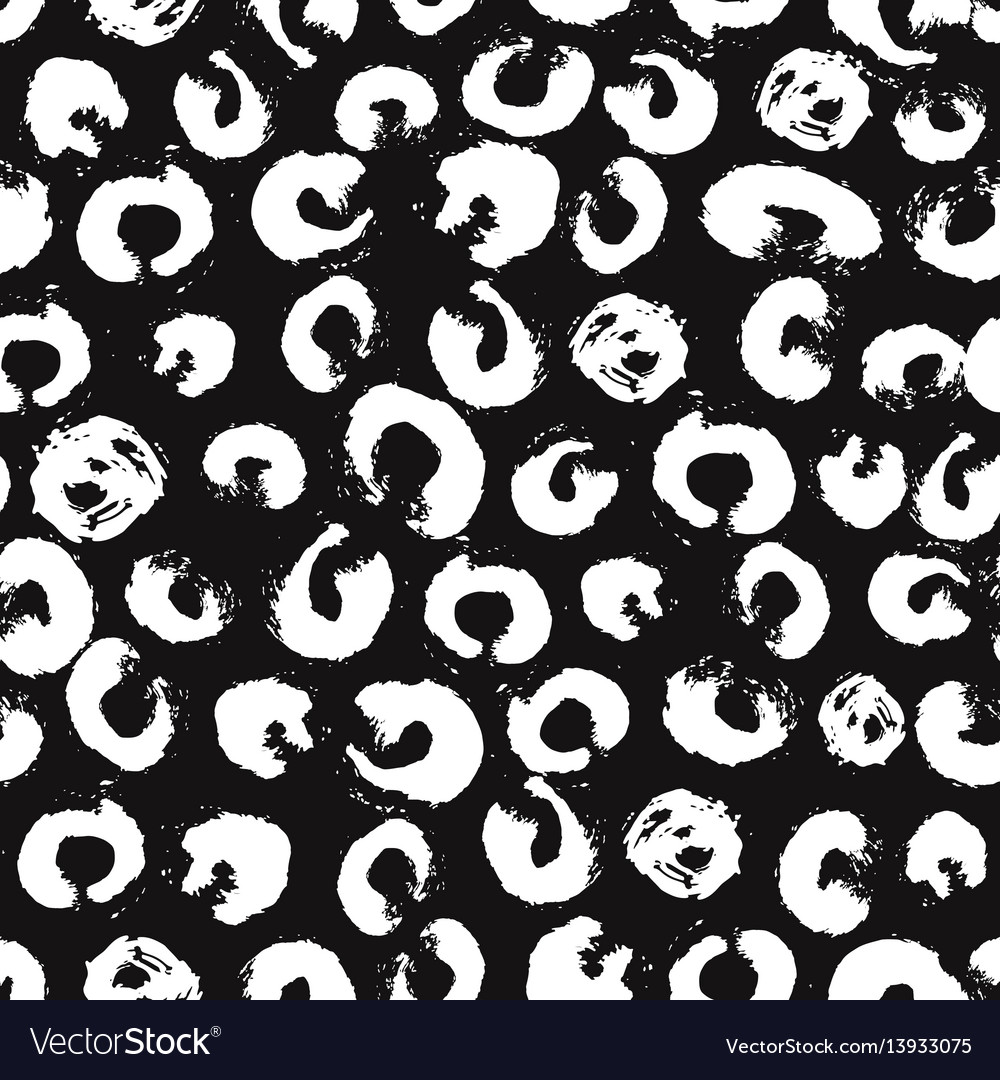 Seamless pattern with brush dots and