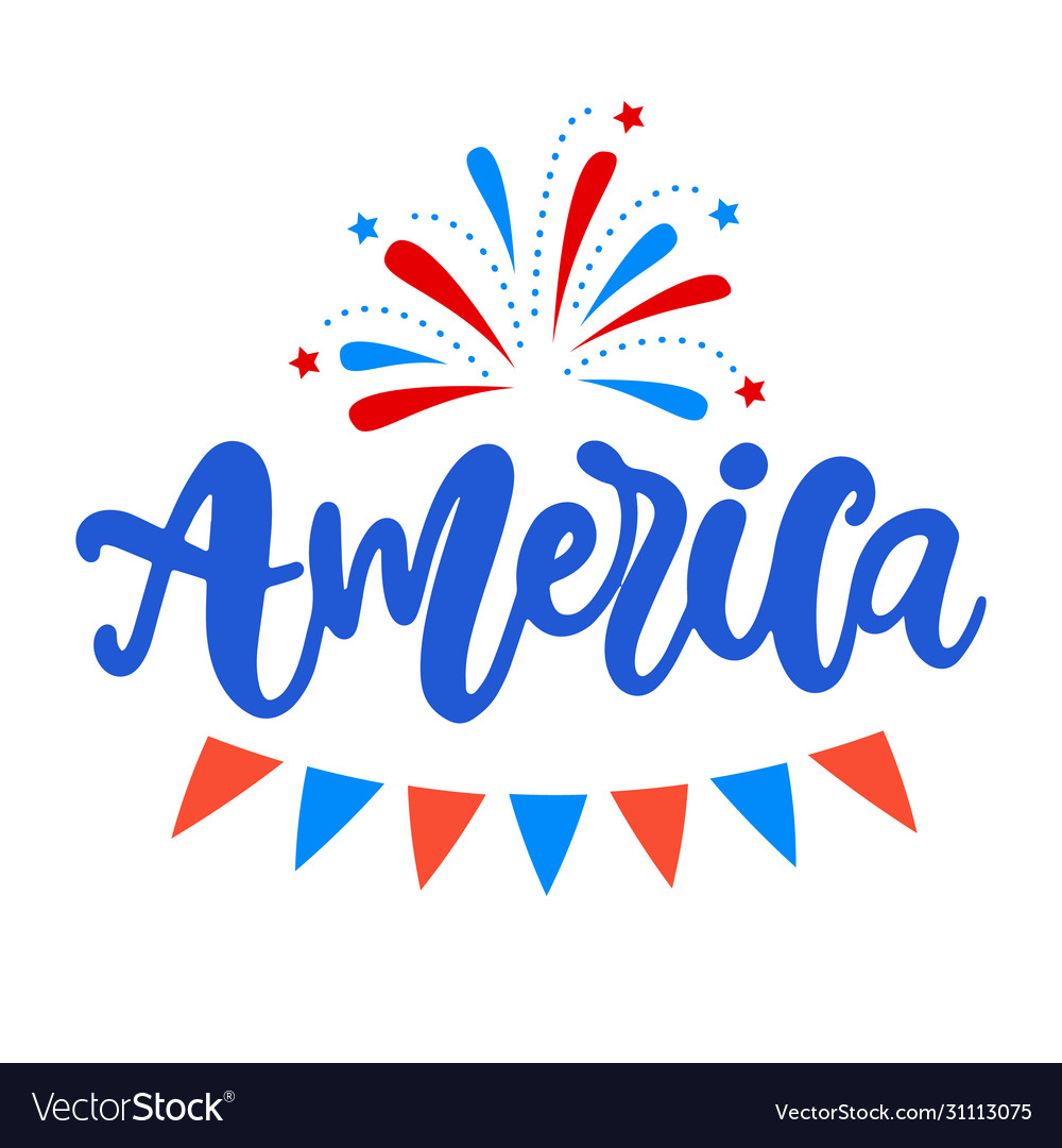 United states america independence day design