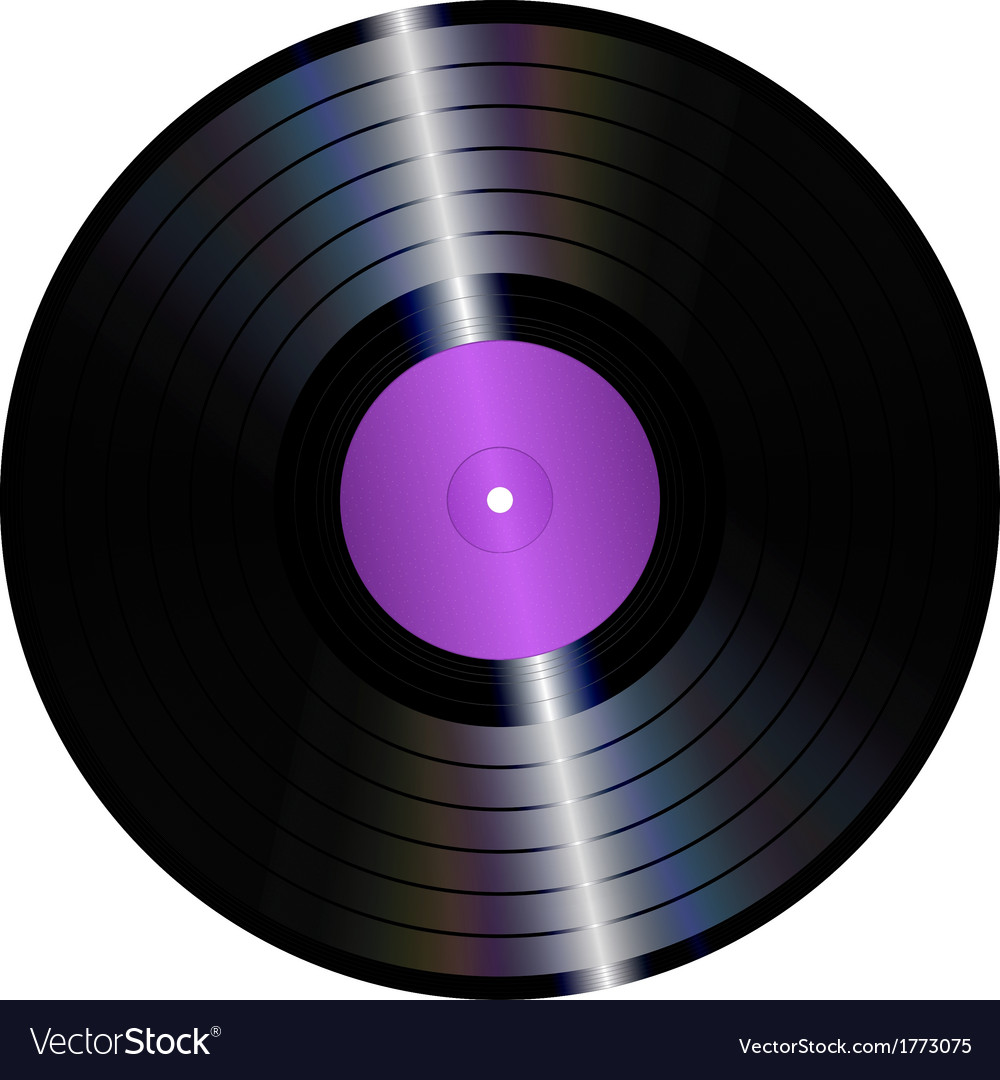 vinyl record royalty free vector image vectorstock rh vectorstock com vinyl record vector graphic vinyl record vector graphic