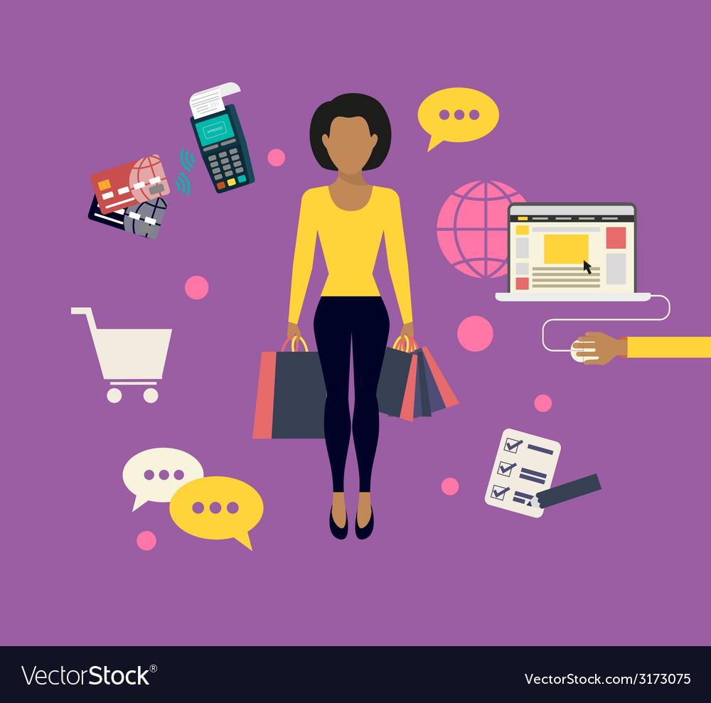 Woman doing shopping online