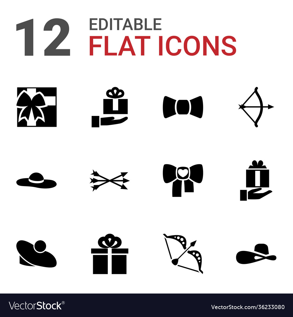 12 bow icons