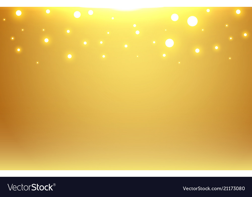 Abstract gold blurred background with bokeh and