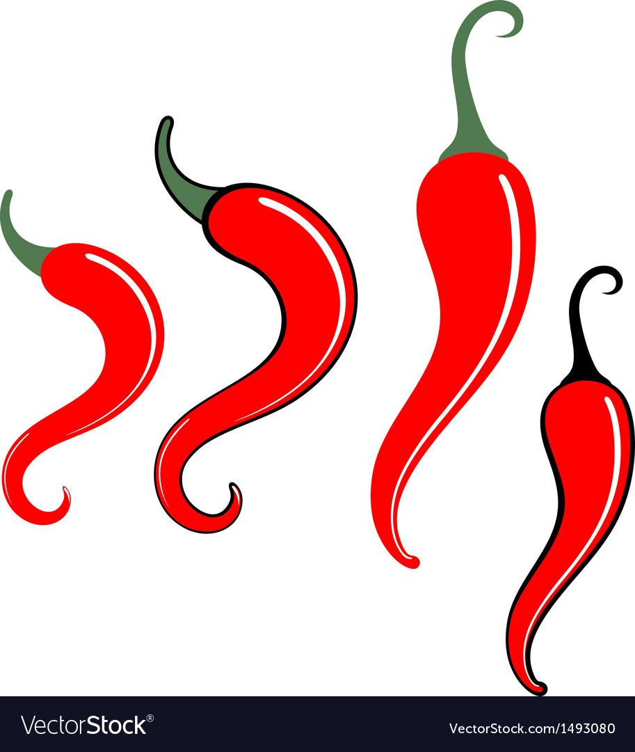 chili pepper royalty free vector image vectorstock rh vectorstock com chili pepper vector template chili pepper vector art