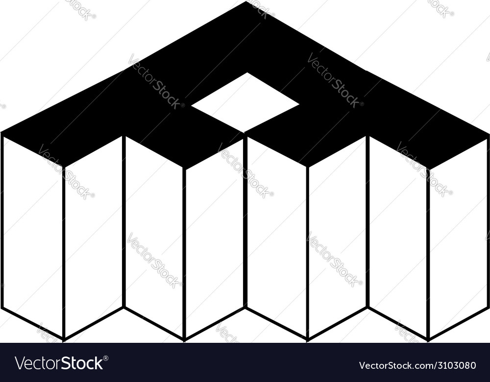 Isometric object- architectural logo