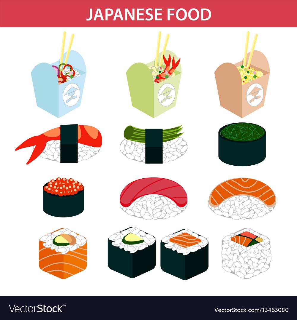 Japanese food sushi and seafood sashimi rolls