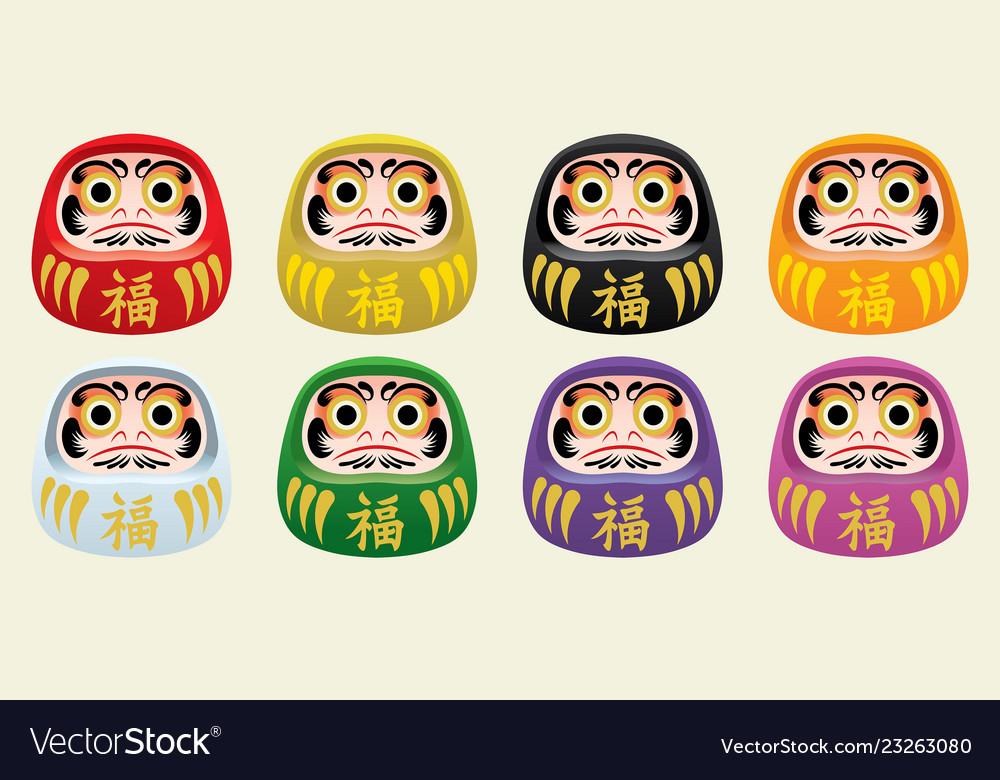 Japans daruma doll set