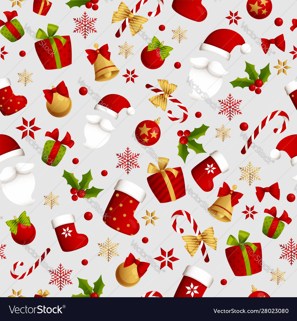 Merry christmas seamless pattern decoration for