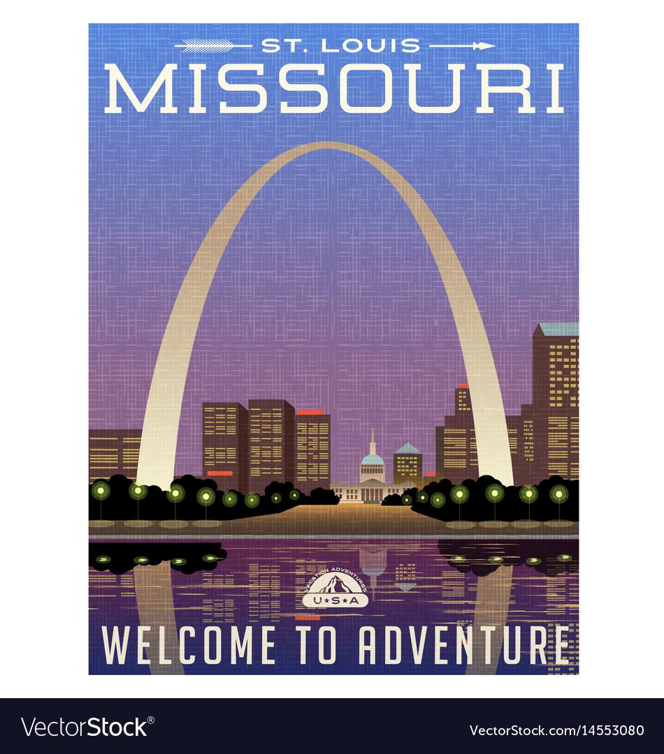Missouri travel poster