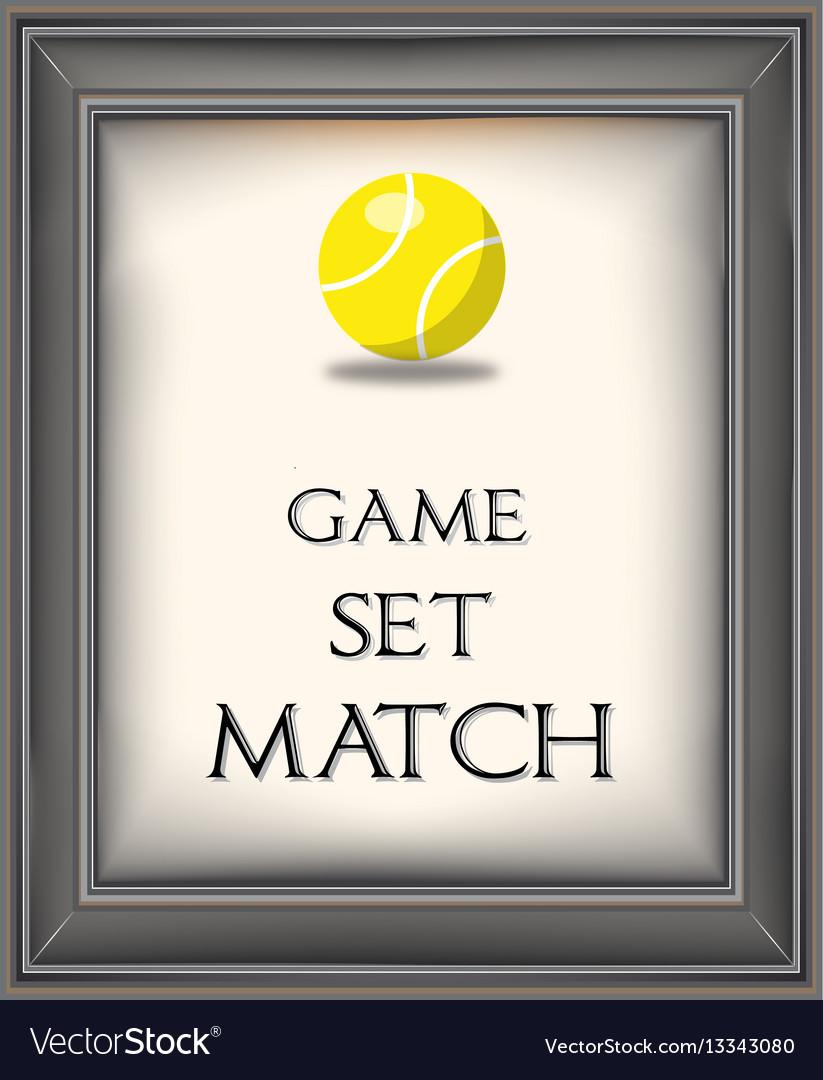 Retro tennis poster
