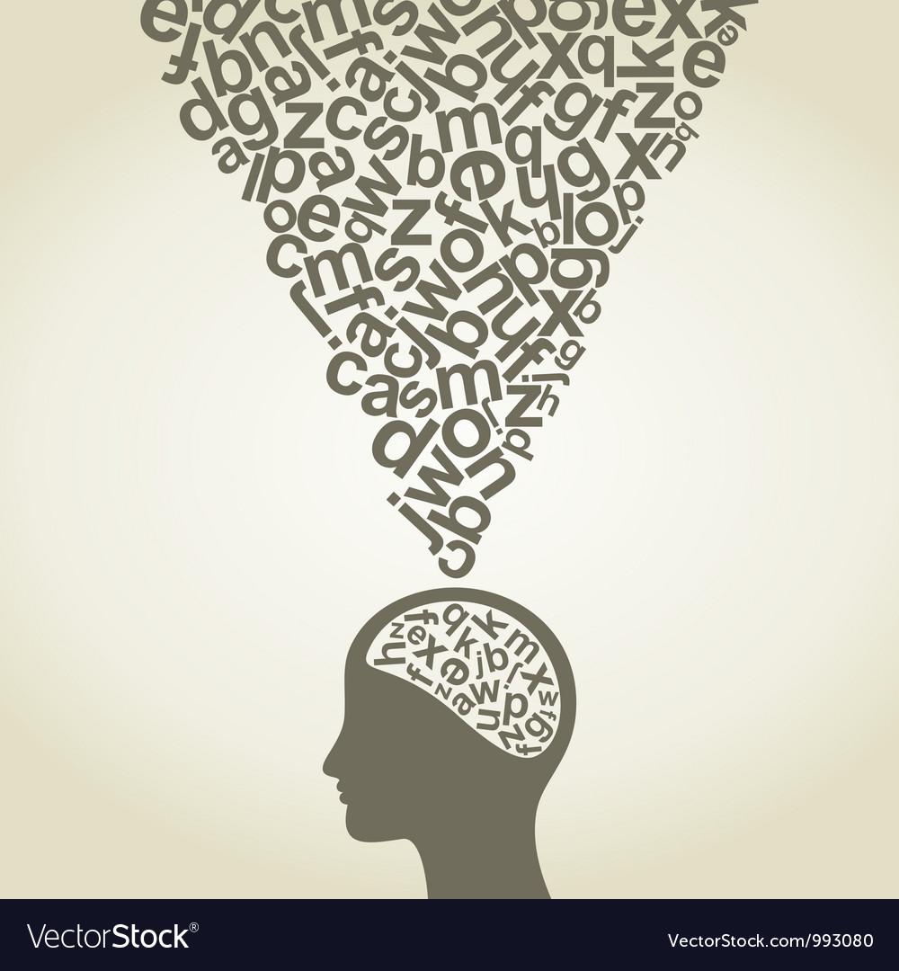 Science head6 vector image