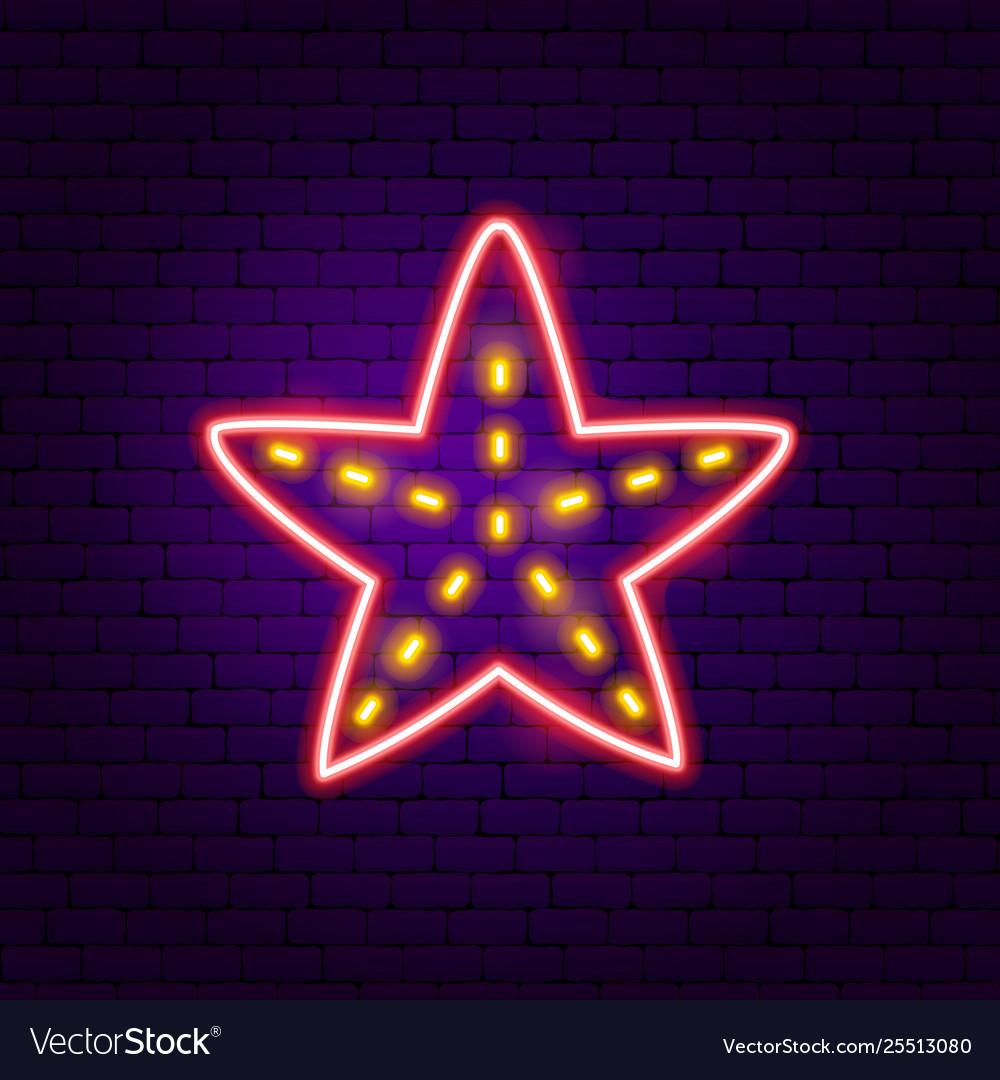 Starfish neon label