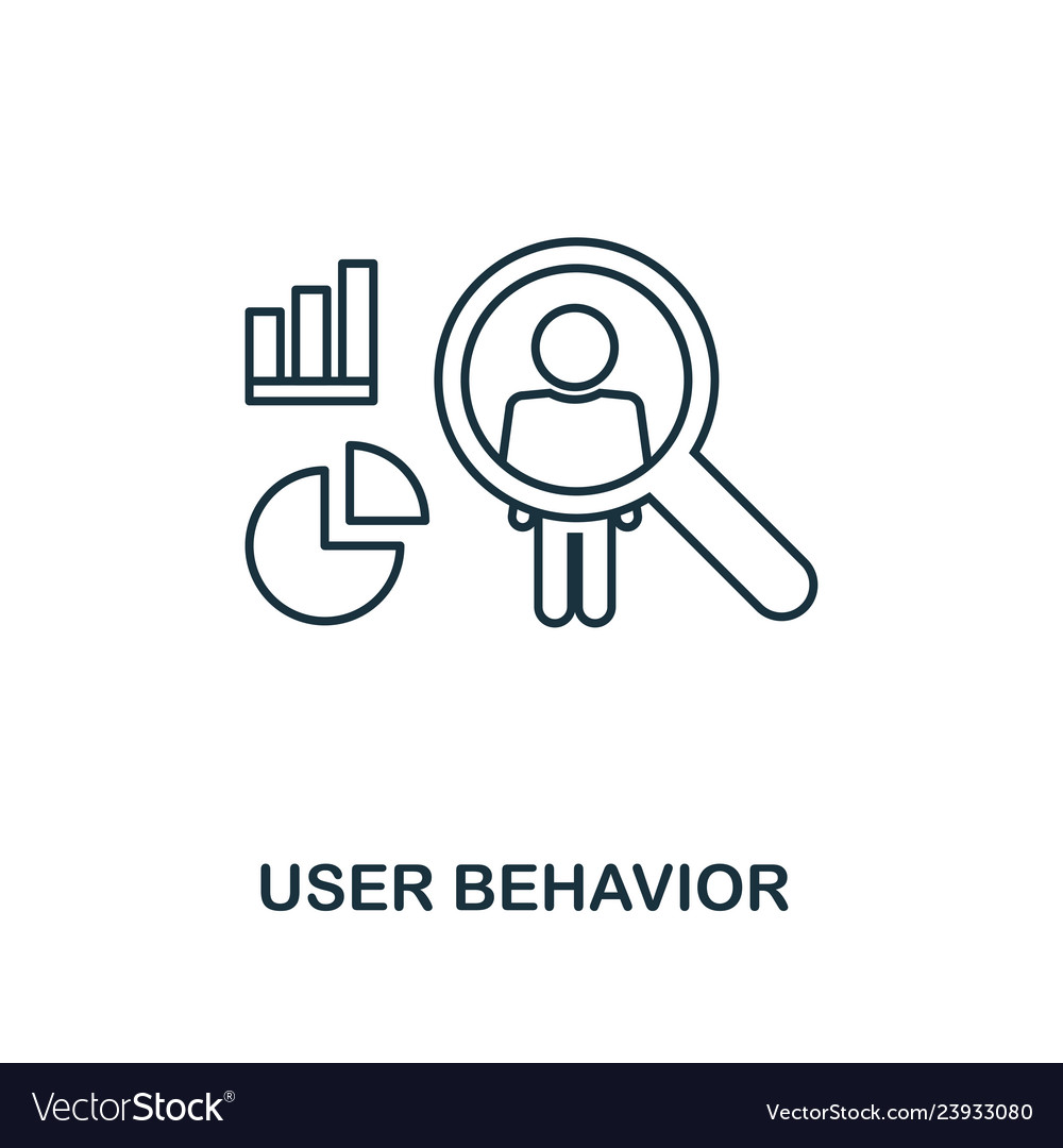 User behavior outline icon thin line style from