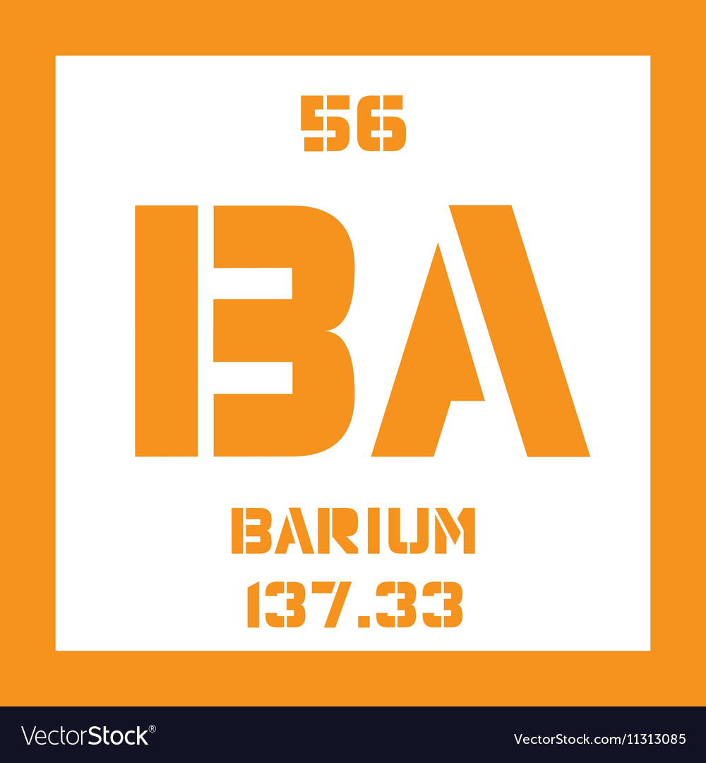 Barium Chemical Element Royalty Free Vector Image