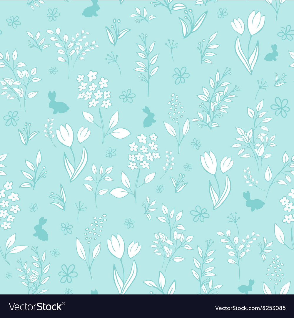 Hand drawn floral seamless eastern pattern with