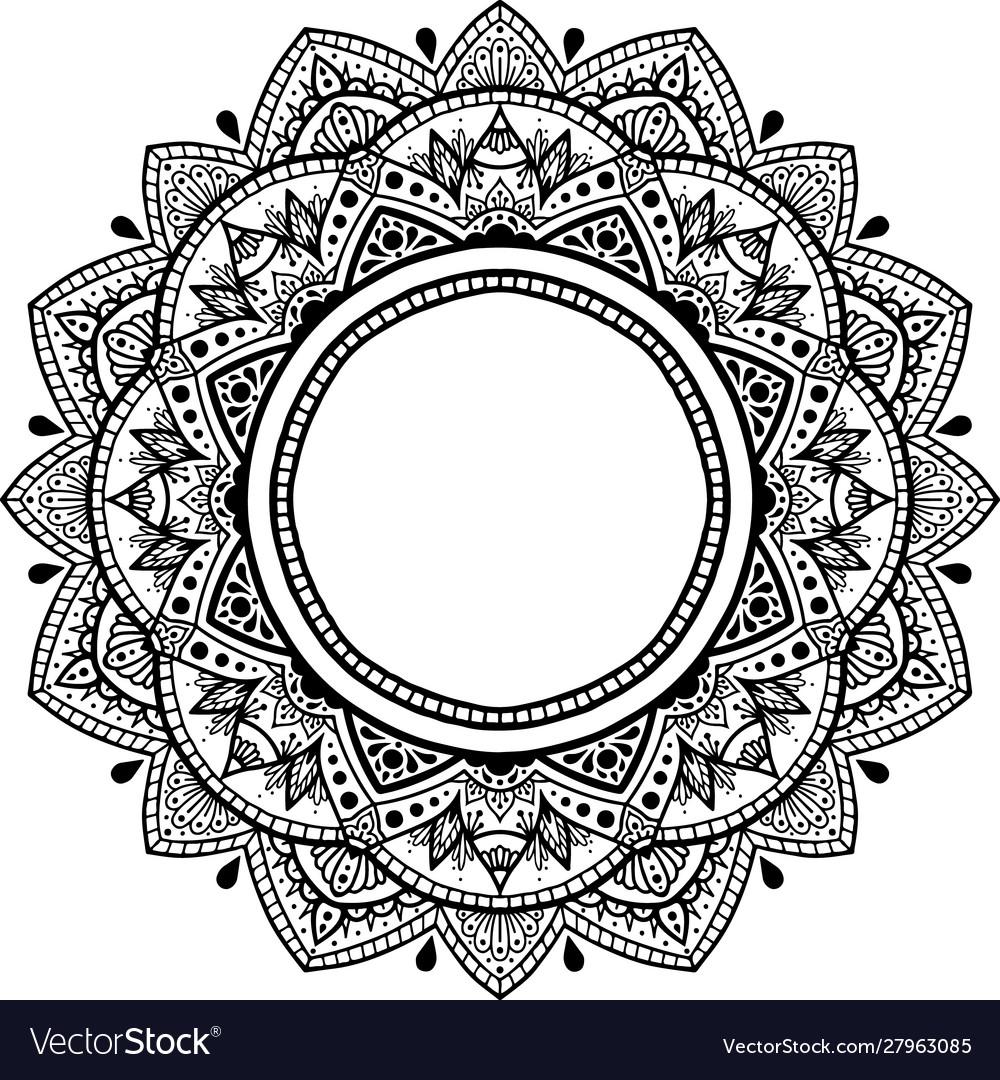 Mandala for coloring book yoga logos