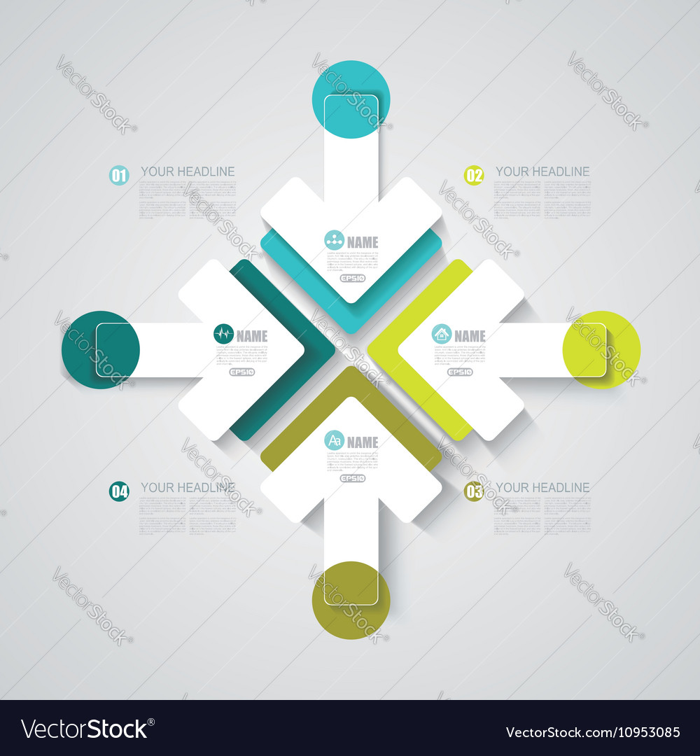 Pointer arrows Graphic or website layout