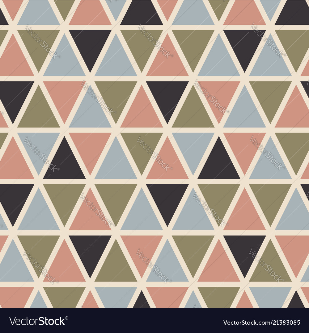 Retro seamless pattern with triangles