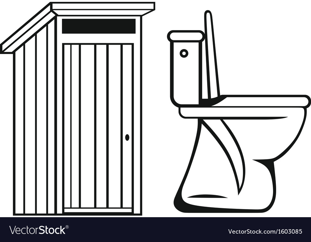 WC Toilet vector image