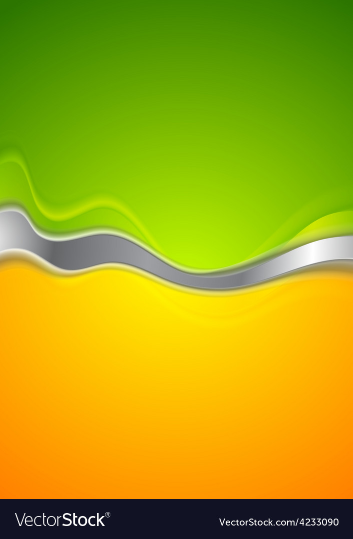 Abstract Green And Orange Background