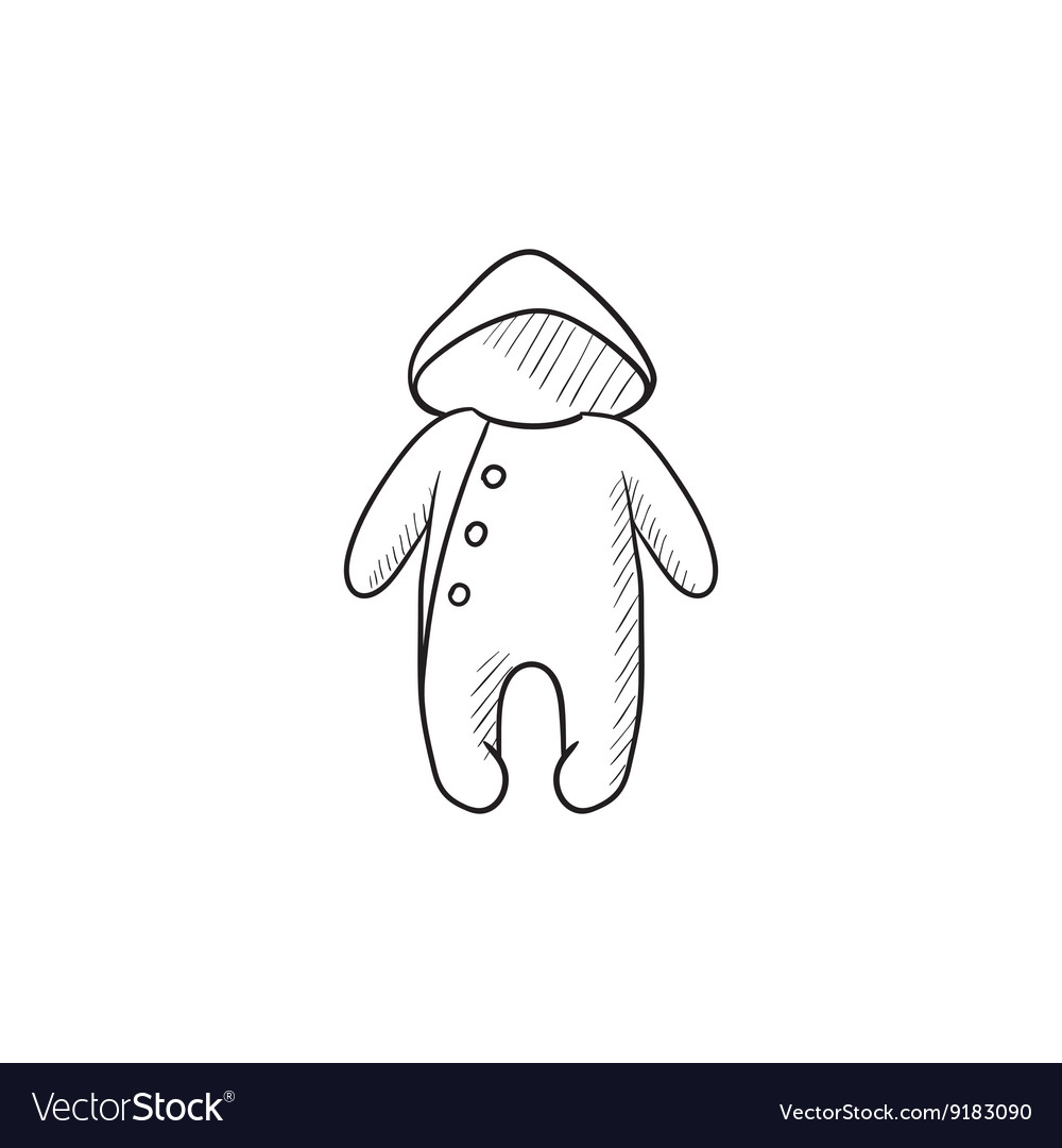 eb0868ffe418 Baby rompers sketch icon Royalty Free Vector Image