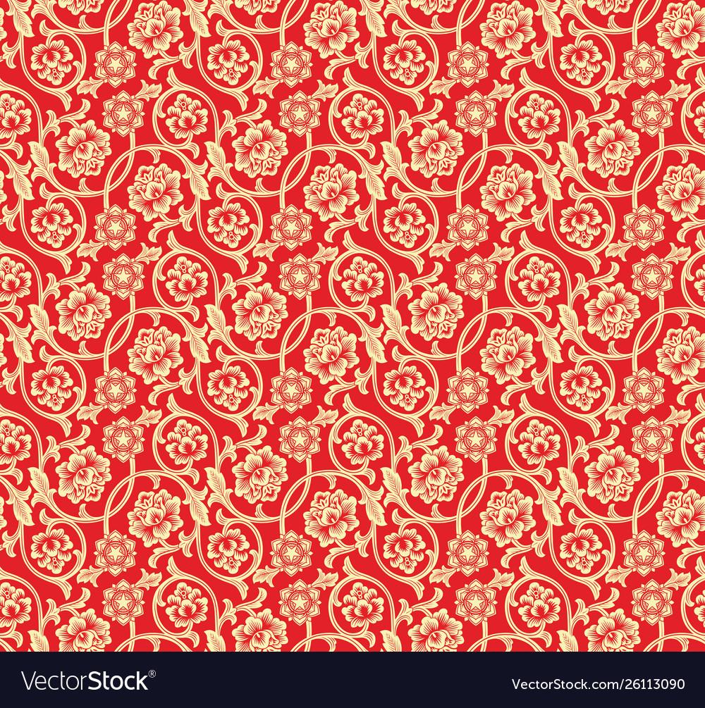 Chinese red seamless pattern