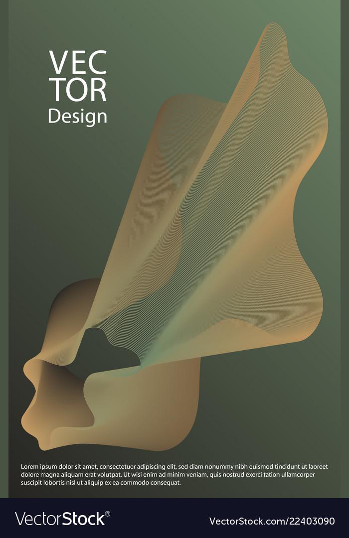 Curved lines ripple texture fluid geometric shapes
