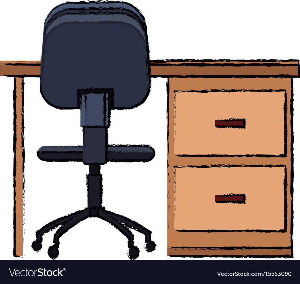 Desk chair office furniture elements decoration