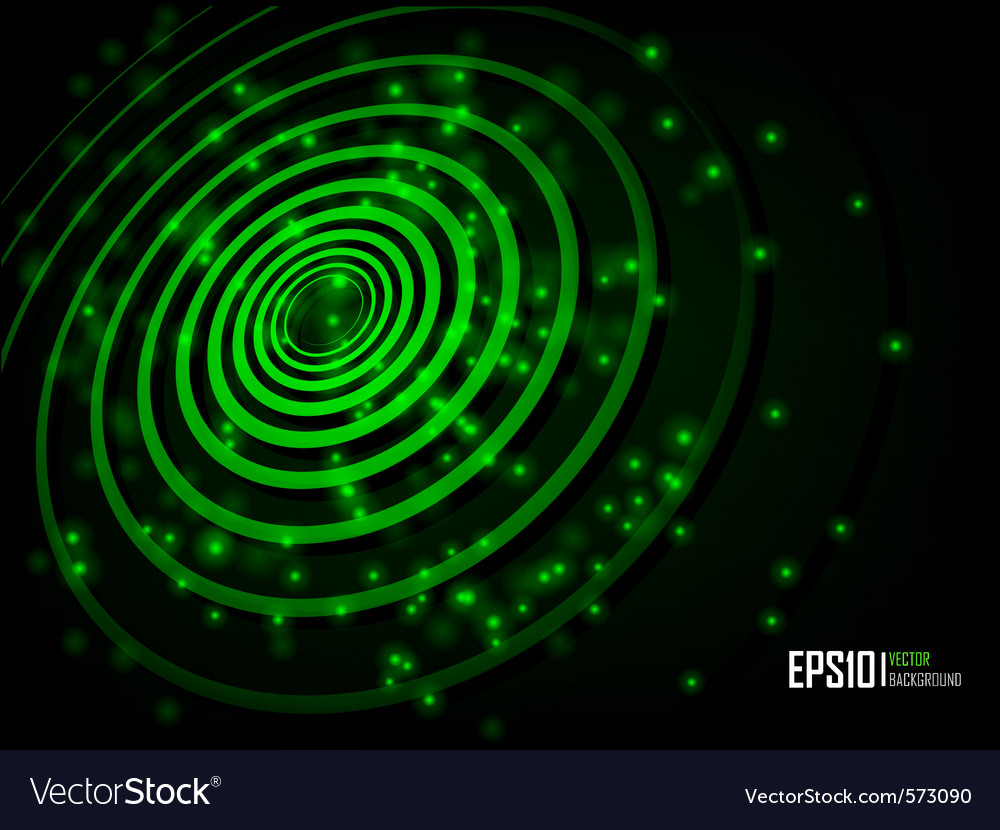 Green abstract glowing background vector image