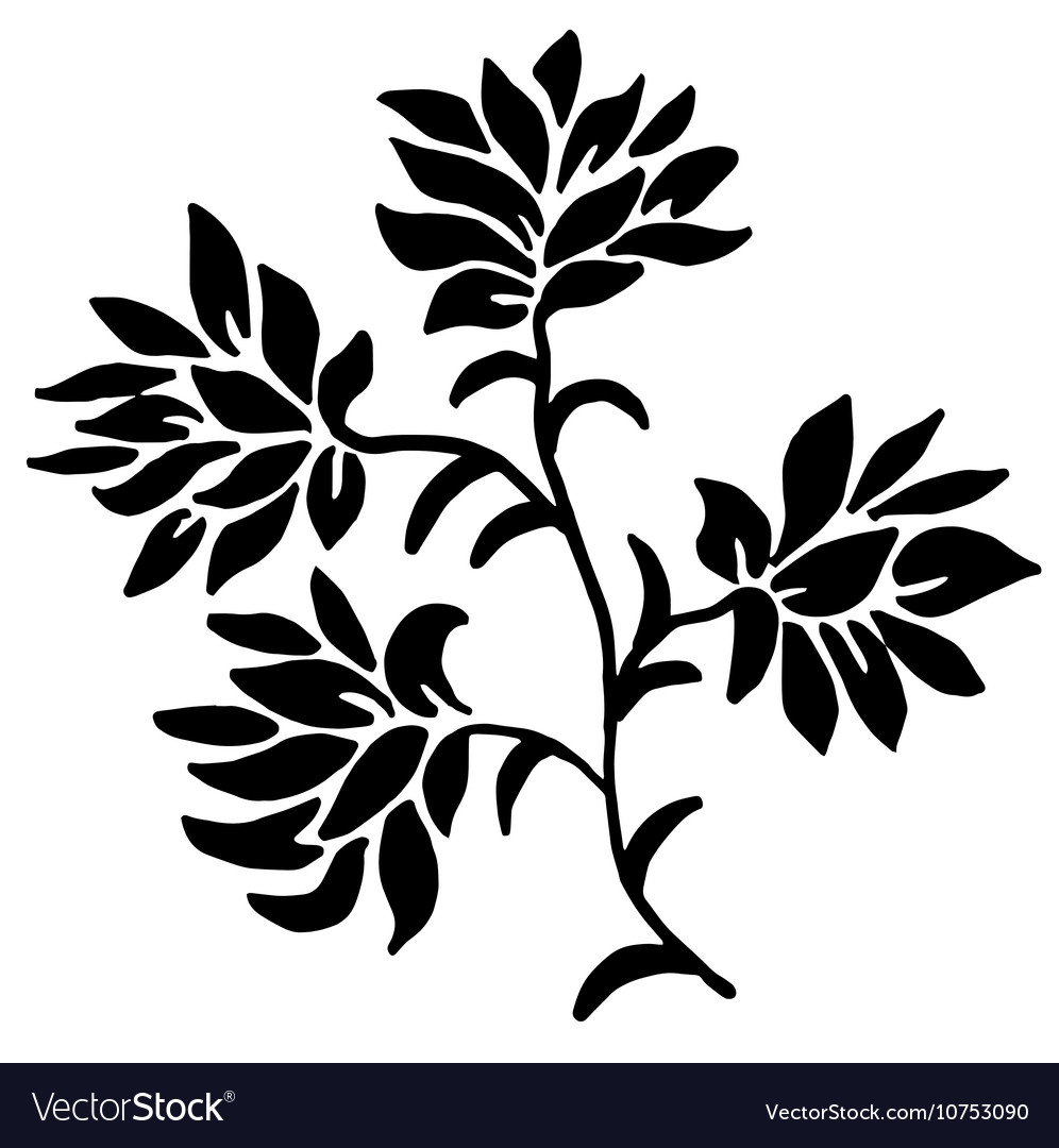 Red floral pattern with leaves