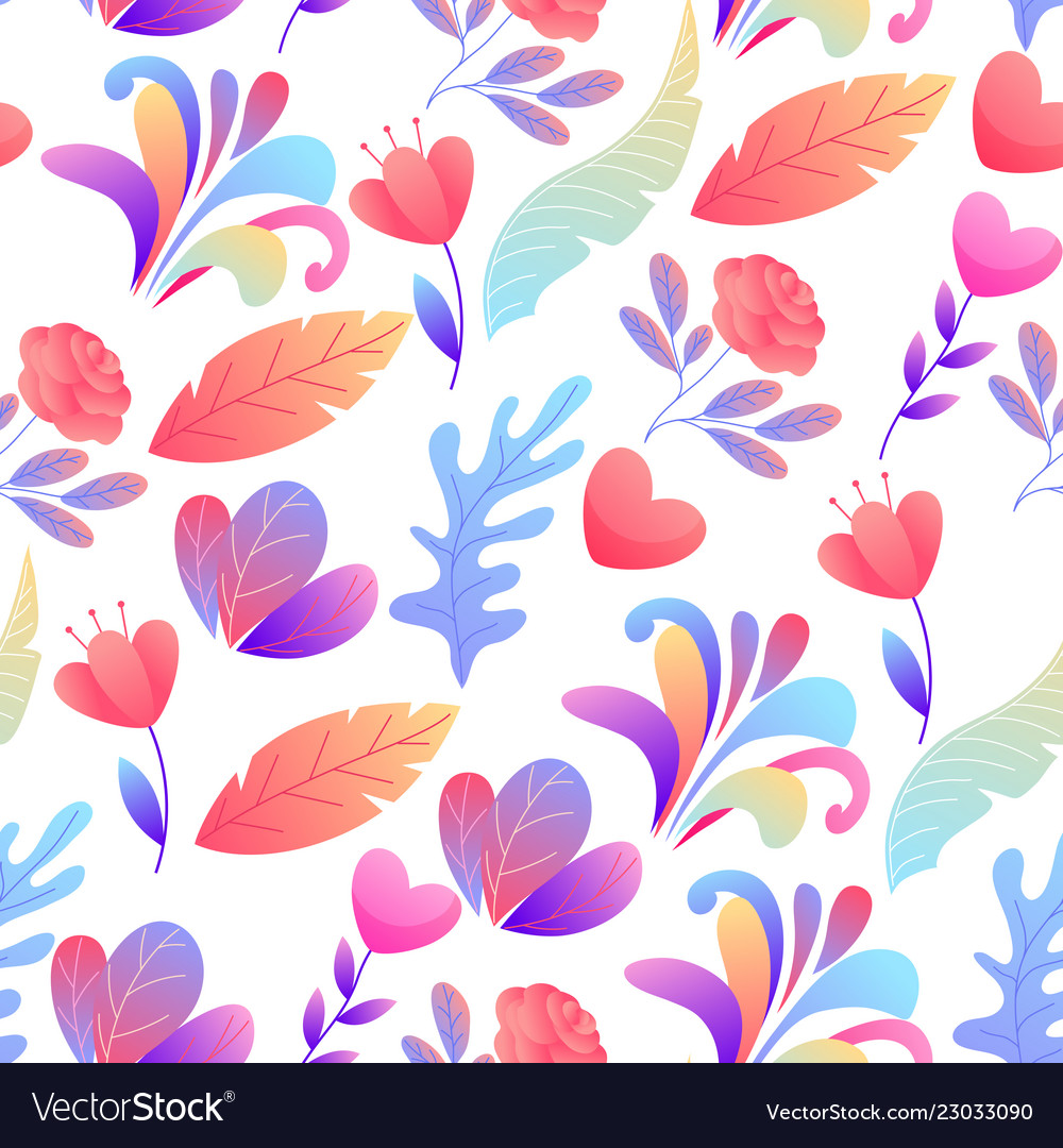 Seamless pattern with romantic flowers